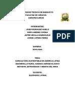 ECOLOGIA AGRICULTURA SUSTENTABBLE
