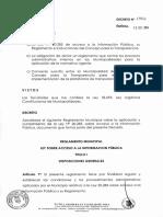 Reglamento Transparencia IMÑ