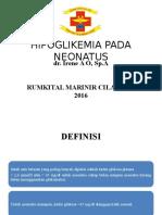 Hipoglikemia Pada Neonatus Dr Irene