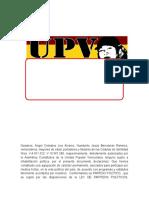 Estatutos Unidad Popular Venezolana (Upv)