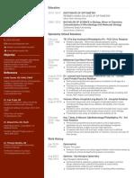 Kalie McCartin CV/Resume
