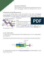 Espectrofotometria de Absorção No UV