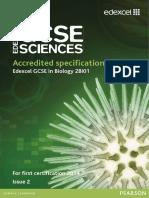 Edexcel GCSE Biology Specification (2011)