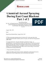Chemtrail Aerosol Spraying Pt.1