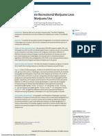 Association of State Recreational Marijuana Laws With Adolescent Marijuana Use JAMA Pediatrics