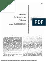 Autistic Schizophrenic Children