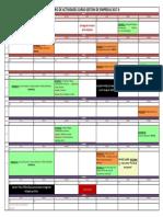 Cronograma de Actividades Gestion Empresas 2017-0