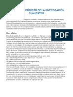 Fases en El Proceso de La Investigación Cualitativa