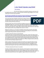 Strategi Penjualan Dan Teknik Penjualan Yang Efektif