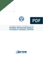 IRS EFTPS Instructions