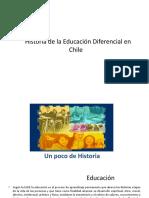 Historia de La Educación Diferencial en Chile