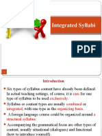 Integrated Syllabus