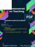 Lesson Plan in Science 9 for Demonstration Teaching