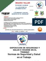 Exposicion de Seguridad y Salud e Higiene en El Trabajo