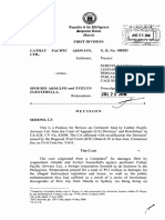 Cathay Pacific vs. Spouses Fuentebella