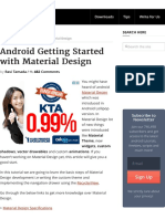 Android Getting Started With Material Design