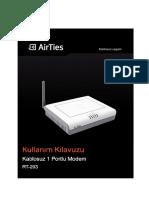 Airties RT203TR_UM Kullanım Kılavuzu