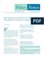 How do private schools fare in the provision of health-care services to students?