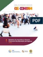 Relatório Do Inquérito à Literacia Financeira Da População Portuguesa (2015)