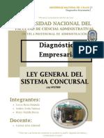 DIagnostico Ley Concursal