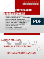 Ppt Sejarah Perkembangan Bahasa Indonesia