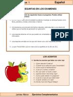 6to Grado - Español - Las Preguntas en Los Exámenes