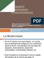 El Debate Modernidad Posmodernidad1