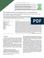 J Mojzis (2012) European Journal of Pharmacology(Antiangiogenic 4hydroxychalcone)