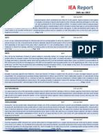 IEA Report 16th January