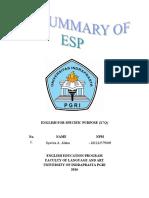 The Summary of ESP