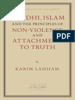Gandhi, Islam and The Principles of Non-Violence, Karim Lahham Tabah Foundation