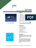VCC1 Vectron Oscillator