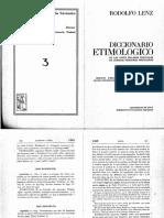 Diciocnario Etimológico de Voces Mapuches