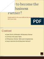 How to Become the Hr Business Partner-chrm
