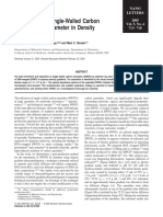 Arnold, Stupp, Hersam - 2005 - Enrichment of Single-Walled Carbon Nanotubes by Diameter in Density Gradients