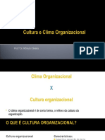 Cultura e Clima Organizacional 13 Out 2016 1(1)
