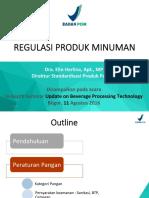 REGULASI PRODUK MINUMAN (Dra Elin Herlina Apt MP Direktur Standardisasi Pangan BPOM)