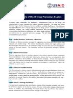 Summary 10 Step Promotional Program Toolkit