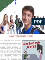IB Maths Home Tutor in Delhi / Gurgaon @9818369374