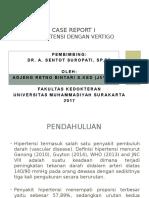 presentasi case report hipertensi grade 2 dengan vertigo