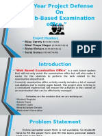 """Final Year Project Proposal Defense for """"Web Based Examination Office"""""""