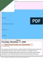 Http Www.marketskeptics.com 2009-12-2010 Food Crisis for Dummies