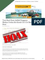 Turn Back Hoax_ Jadilah Pengguna Medsos Cerdas Dan Kenali Ciri-Ciri Berita Hoax - Halaman All - Tribun Batam