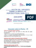 Seminario Declaración del impuesto sobre la renta (IR) en Nicaragua para el año fiscal 2009-2010