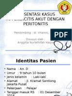 Laporan Kasus Peritonitis e.c Appendicitis Akut