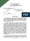 Reso on Demurrer to Evidence Bp 6 Illegal Arrest