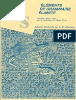 Grillot-Susini - Éléments de grammaire élamite (1987)