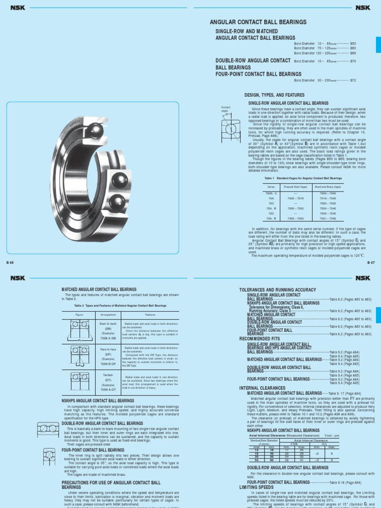 NEW NSK ANGULAR CONTACT BEARINGS 7011A 7012A 7014A 7015A 7016A 7018A 7019A 7020A