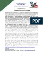 Eisspeedway Berlin 2017, Pressemitteilung 170116