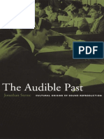 Jonathan Sterne the Audible Past Intro